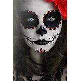 Maquillaje Halloween Catrina De Dia De Muertos Aplicacion
