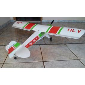 Aeromodelo Elétrico Paulistinha Verde Vermelho + Combo