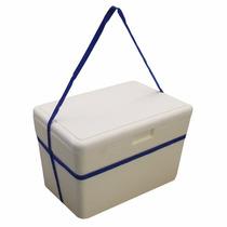 Caixa De Isopor Térmica De 35 Litros Isoterm Com Alça