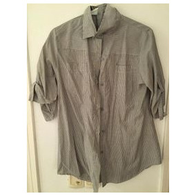 Camisa Mujer Rayada Ideal Calzas Larguita Lazo