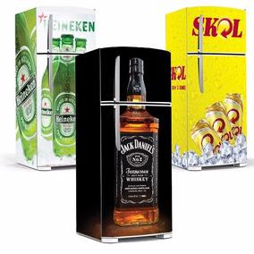Adesivo Decorativo De Geladeira Cervejas E Whisky