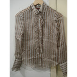 Camisa Seda Transparente Juicy Couture Importada Eua Babado
