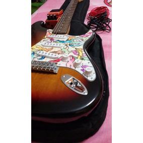 Guitarra Eléctrica Marca Stagg Forro + Cables (nuevo Todo)