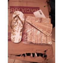 Sandalias Y Abanicos Personalizados Economicos Super Combo