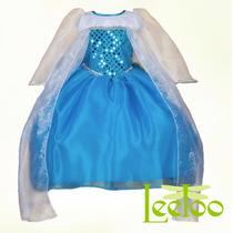 Vestido Frozen Princesa Disfraz Envío E Invitaciones Gratis!