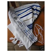 Tallit Talit Tales Manto Ritual Grande Kosher Israel Judaica