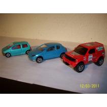 Majorette Lote De 3 Coches Mitsubishi Pajero Peugeot Renault