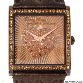 Reloj Brown Sugar By Justine, Correas Piel Y Piedreria