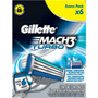 Carga Gillette Mach3 Turbo Com 6 Unidades Frete Grátis