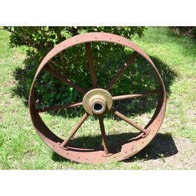 Antigua Rueda De Hierro De Maquina Agrícola Pb. 217
