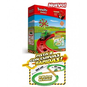 Trencity Kit Avansado Pista 8 Rectas Curvas , Tren Y Cruce
