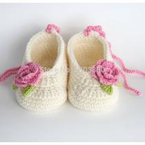 Gorros Zapatitos Tejidos A Mano Crochet Bebe Niños Adultos