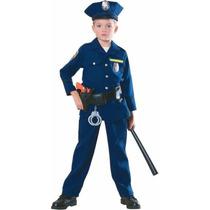 Disfraz De Policía Para Niños Con Accesorios Agente Policía