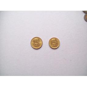 Moneda Argentina 1977 10 Y 5 Pesos Bronce Sin Circular Brown