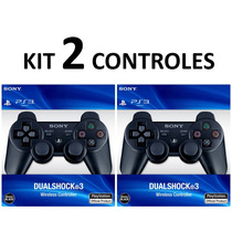 Kit 2 Controles Playstation 3 Original S/ Fio Controle Play3