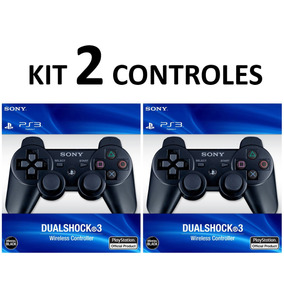 Kit 2 Controles Ps3 Original S/ Fio Controle Playstation 3