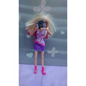 Acessório Maquina Fotográfica P/boneca Barbie,blythe,som Luz
