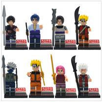 Lego Naruto Sasuke Itachi Anime Kit 8 Bonecos Compativel