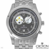 Reloj Croton Fases Maquinaria Suiza, Acero Inoxidable