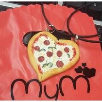 Collar Pizza Corazon Pareja San Valentin Amigos Amor Amistad
