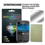 Lamina Tipo Espejo Pantalla Blackberry Bold 9000 Bb + Paño