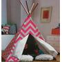 Cabana Toca De Índio Infantil Crianças Listras Rosas