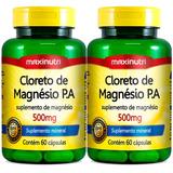 Cloreto De Magnésio P A 500mg - Maxinutri - 2x60 Cápsulas