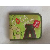 Cartera Goga Jeans Original Verde Diseño Exclusivo
