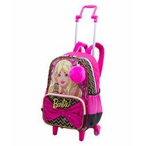 Kit Mochila De Carrinho Barbie 17 Z Grande 2 Em 1 + Lancheir