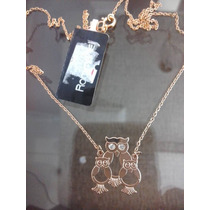Gargantilha Fio Cartier 0,35 Família Coruja Rommanel.50 Cm