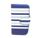 Capa Carteira Listras Samsung Galaxy Y - S5360 - Azul/prata