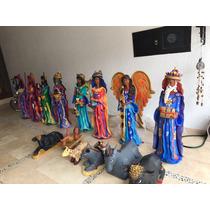 Nacimiento Artistico De Barro 13 Figuras Se 1.20.mts
