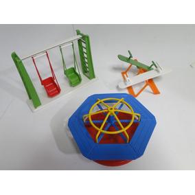 Parque Balanço Carrossel Gangorra Para Boneco Lego Playmobil