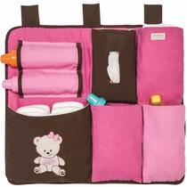 Organizador Para Cuna De Bebe Pañales Biberon Baby Pink