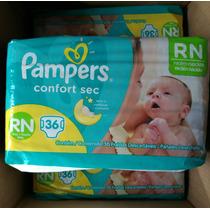 144 Fraldas Pampers Confort Sec Tamanho Rn - 3 A 6 Kg - Xp