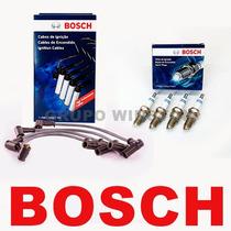 Kit Cabos E Velas Bosch Fiat Uno Mille Ep Spi1.0 Gasolina