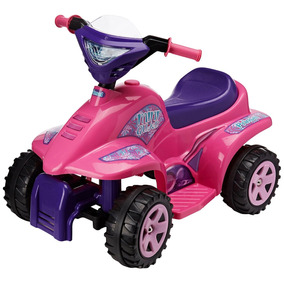 Prinsel Cuatrimoto Eléctrica Mini Quad Girl, Color Rosa
