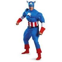 Disfraz Capitán América Musculoso Captain America Deluxe