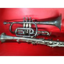 Trompeta Antigua Lafayette Paris Francia Y Clarinete Usa