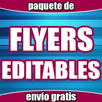 Flyers Volantes Anuncios Editables Para Imprimir Calidad