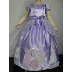 Disfraz Vestido Inspirado En Princesita Sofia Corona Gratis!