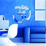Espelho Decorativo Simbolo Om Yoga , Acrílico Espelhado.