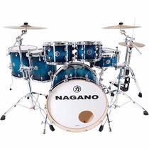 Bateria Acústica Nagano Work Series Blue Sparkle Bumbo 22
