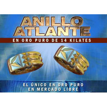 Anillo Atlante Original En Fino Oro De 14 Kilates