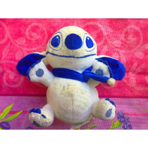 Stitch De Peluche Color Blanco Con Azul