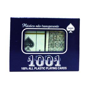 Baralho 100% Plástico 1001 Duplo Vermelho E Preto Copag