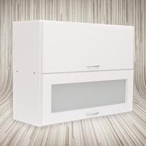 Alacena 80x60x30 Dos Puertas Rebatible - Vidrio Esmerilado