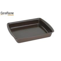 Assadeira Retangular Cerâmica 3000ml Chocolate - Ceraflame