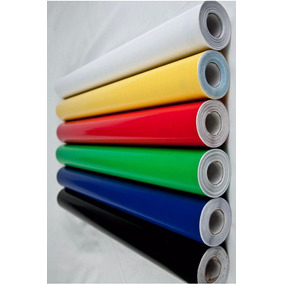 Papel Adesivo Contact Colorido Vulcan 45cm X 1m Cores