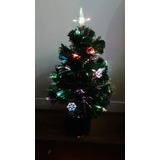 Árbol Navidad Fibra Optica Giratorio 60 Cm